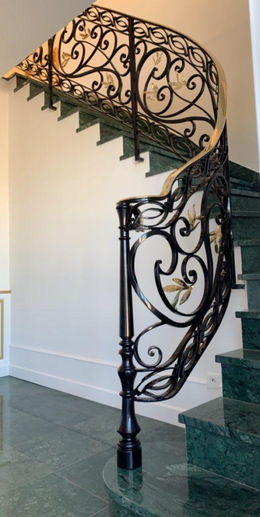 Rampe d'escalier fer forgé
